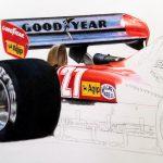 Gilles Villeneuve / Ferrari 126 C2 Limited Edition Print