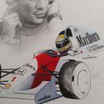 Ayrton Senna / McLaren Mp4-7 Limited Edition Print