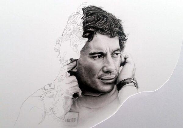 Ayrton Senna - W J Henley Art