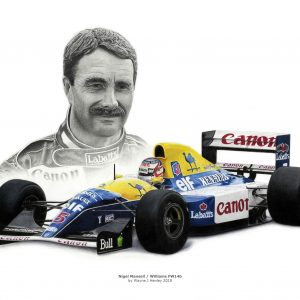 Nigel Mansell / Williams FW14b Limited Edition Print