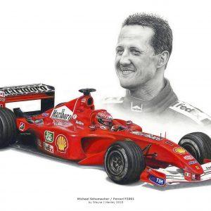Michael Schumacher / Ferrari F2001 Limited Edition Print