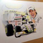 Jenson Button / BrawnGP0001 Limited Edition Print