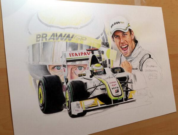 Jenson Button - W J Henley Art