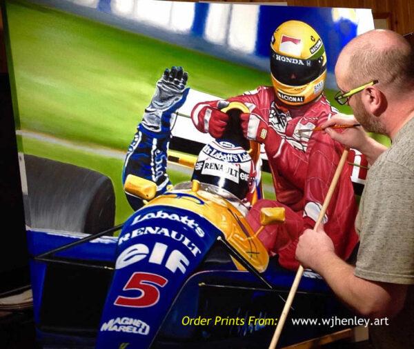 Mansell Senna WJHenley Art